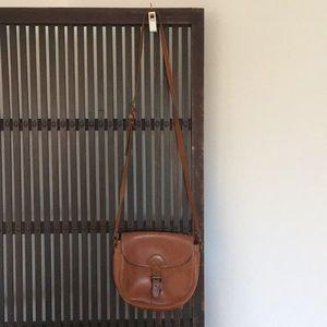 Vintage brown crossbody leather bag